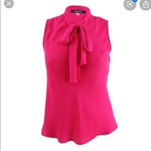 Nine West bright pink top *NWT*